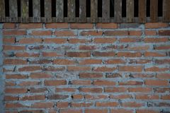Old red brick wall background stock photos