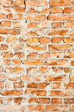 Old red brick wall backgrounds Royalty Free Stock Photo
