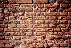 Old red brick wall Royalty Free Stock Images