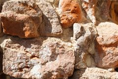 Old red brick wall close-up. Old red brick wall. close-up Stock Photography