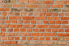 Old red brick wall close up. Stock Images