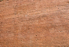 Old red brick wall closeup as background Royalty Free Stock Photography