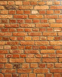 Old red brick wall closeup for vertical background Stock Photography