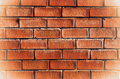 Old red brick wall.England, Manchester. Royalty Free Stock Images
