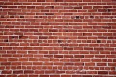 Old red brick wall far Royalty Free Stock Photos