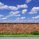 Old Red Brick Wall Stock Photography