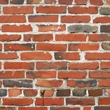 Old red brick wall fragment Royalty Free Stock Photo