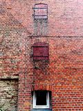 Old red brick wall of the house Royalty Free Stock Photo