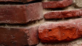 Old red brick wall stock footage