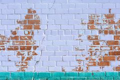 Old red brick wall painted violet Royalty Free Stock Images
