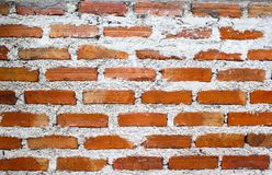 Old red brick wall pattern textured. Abstract background Stock Image