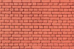 Old red brick wall texture. Wall of red brick background Stock Images