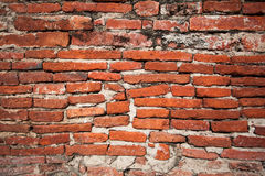 Old red brick. Wall texture background Royalty Free Stock Photos