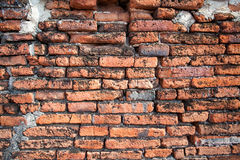 Old red brick. Wall texture background Royalty Free Stock Image
