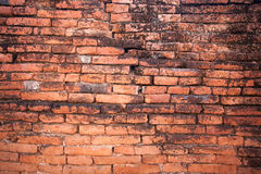 Old red brick. Wall texture background Stock Images