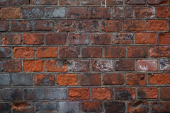 Old red brick wall for texture Royalty Free Stock Images