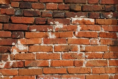 The old red brick wall. Texture background Royalty Free Stock Photos