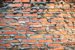 Old red brick wall texture background Stock Photo