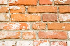 Old red brick wall texture background close up Royalty Free Stock Image
