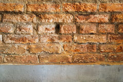 Old red brick wall  texture background Royalty Free Stock Images