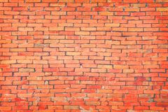 Old red brick wall texture background. stock photo