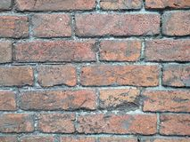 Old red brick wall texture background, material stock photo