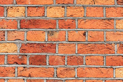 Old Red Brick Wall Texture Background Stock Image
