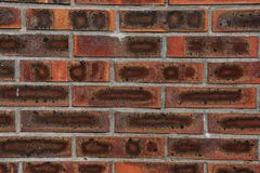 Brick wall background. Old red brick wall texture with copy space Royalty Free Stock Image