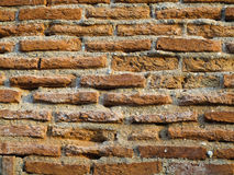 Old red brick wall textures background Stock Photography