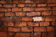 Old red brick wall vintage Royalty Free Stock Image