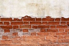 Old red brick wall. Royalty Free Stock Image