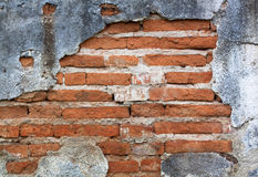 Old red brick wall. Royalty Free Stock Photo