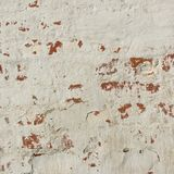 Old Red Brick Wall With White  Plaster Frame Background Royalty Free Stock Photo
