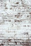 Old Red Brick Wall With Whitewash Backround Texture Stock Images