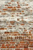 Old Red Brick Wall With Whitewash Backround Texture Royalty Free Stock Image