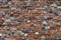 Free Old Red Brick Wall With Lots Of Texture And Color. Stock Image - 159268491