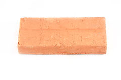Old red brick on white background Royalty Free Stock Image