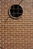Old Red Bricks and circle window Royalty Free Stock Photos