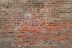 Old red bricks wall texture. Old red bricks wall background. Brown texture high resolution royalty free stock photo