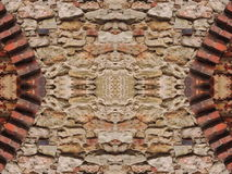 Old red bricks wall royalty free stock images