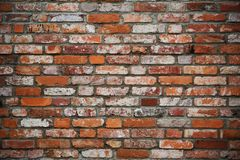 Old red brickwall texture Royalty Free Stock Images
