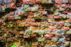 Old red brickwork Stock Images