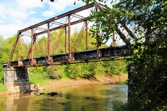 Old red bridge Royalty Free Stock Photography