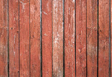 Old red brown board wall. Old red brown, vertical board wall in close-up Royalty Free Stock Photos