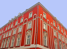 Old red building in Krakow stock image