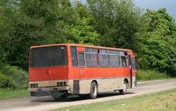 Old red bus Royalty Free Stock Photography