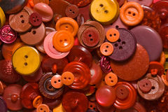 Old red buttons Stock Images