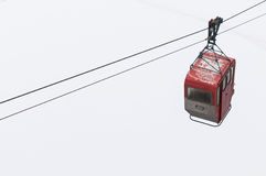 Old red cable car. Stock Photography