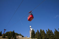 Old red cable car Stock Photography