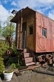 Old red caboose Royalty Free Stock Photos
